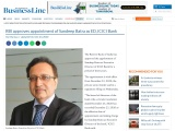 RBI approves appointment of Sandeep Batra as ED, ICICI Bank