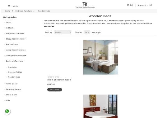 Buy Wooden bed Online in Sydney at Affordable Price