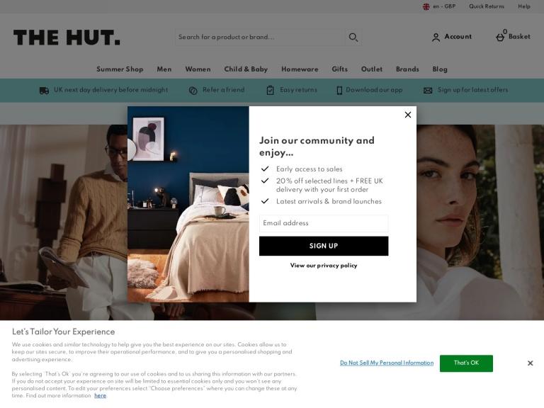 The Hut (UK) screenshot