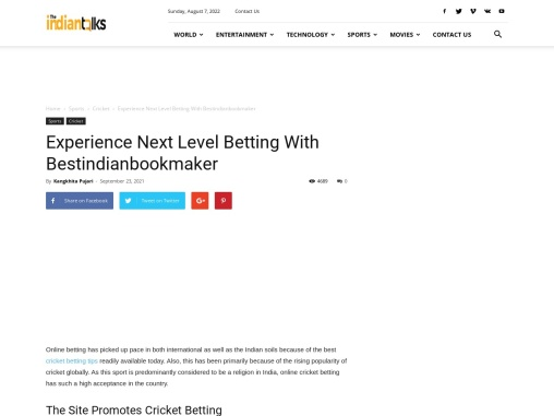 Experience Next Level Betting With Bestindianbookmaker