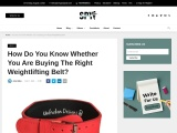 How Do You Know Whether You Are Buying The Right Weightlifting Belt