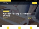 wallpaper,wooden flooring and grass installation | theinstallers.in