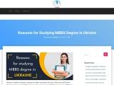 Reasons For Studying MBBS Degree In Ukraine