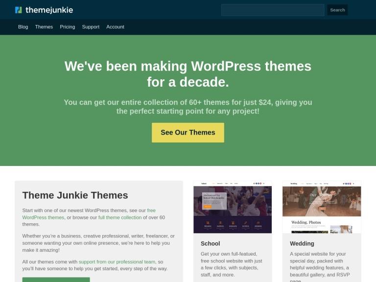Theme Junkie Coupon Codes screenshot