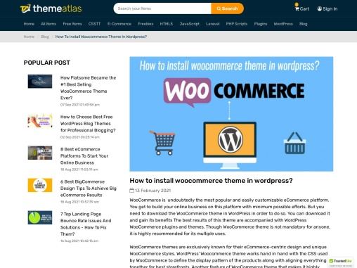 Follow simple steps for install woocommerce theme in wordpress