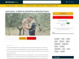 Jack & Rose WordPress Theme – A Whimsical WordPress Wedding Theme