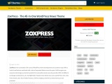 ZoxPress – The All-In-One WordPress News Theme
