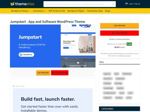 Jumpstart – App and Software WordPress Theme