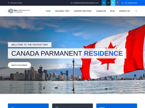 The Multinational Immigration Services| Canada Immigration and visa consultant in India