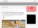 How to Improve Mental Health Through Yoga?