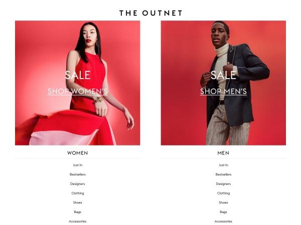 英國精品折扣類網站THE OUTNET
