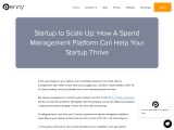How A Spend Management Platform Can Help Your Startup Thrive