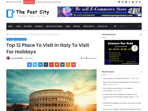 Top 12 Place To Visit In Italy To Visit For Holidays