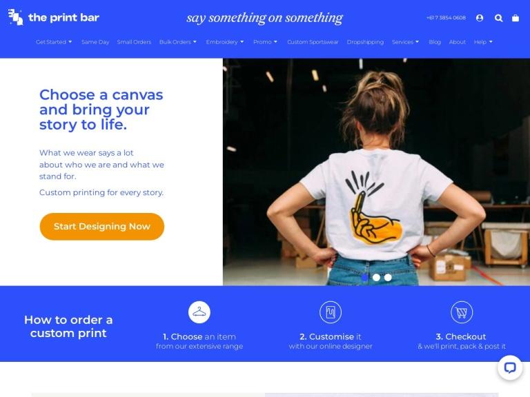 theprintbar.com screenshot