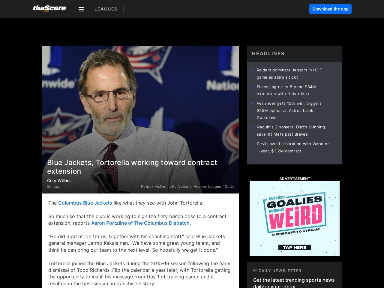 Blue Jackets, Tortorella working toward contract extension