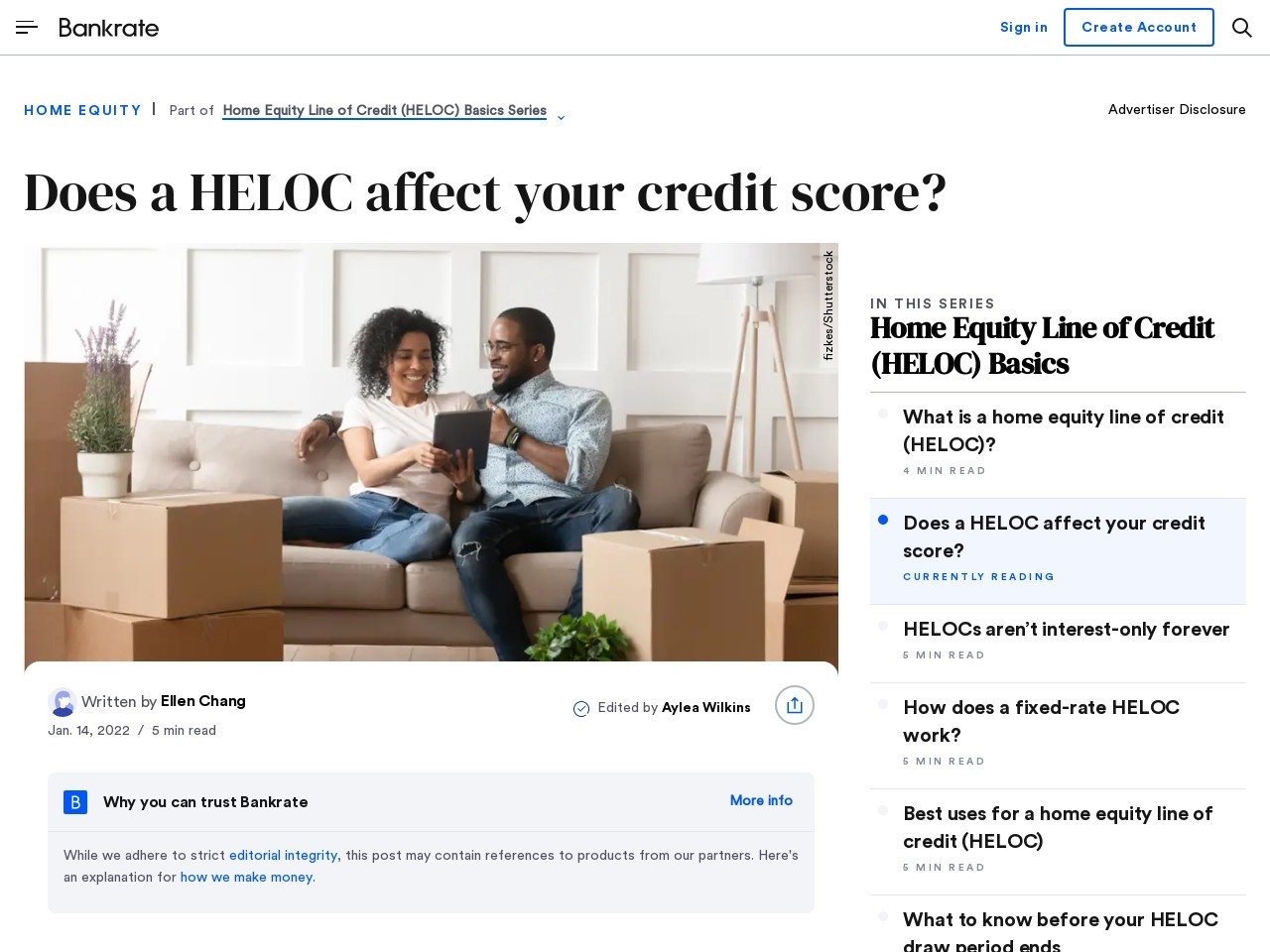 How a Home Equity Line Impacts Your Credit Score