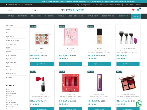 Makeup Online in Pakistan from Online Cosmetics Shopping Store