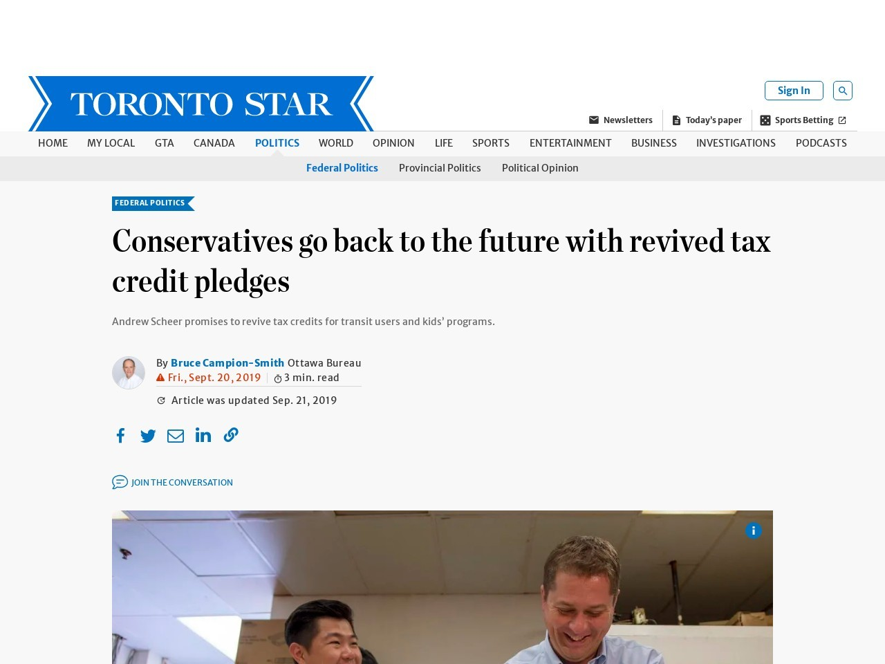 Conservatives go back to the future with revived tax credit pledges