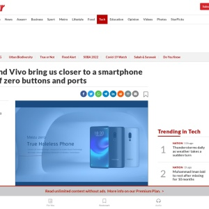 Meizu and Vivo bring us closer to a smartphone future of zero buttons and ports | The Star Online