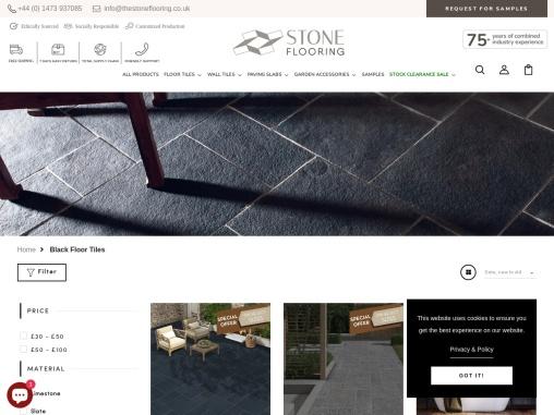 black bathroom floor tiles in UK