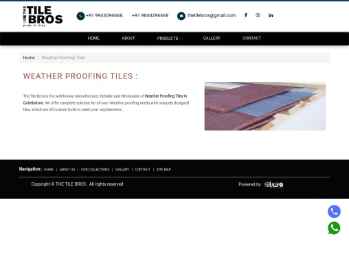 Weather Proofing Tiles in Coimbatore   weather roof tiles – The Tile Bros