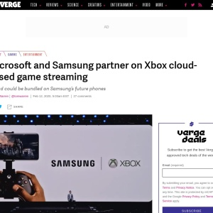 Microsoft and Samsung partner on Xbox cloud-based game streaming - The Verge