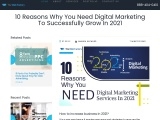 10 Reasons Why You Need Digital Marketing To Successfully Grow In 2021