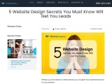 5 Website Design Secrets You Must Know Will Get You Leads