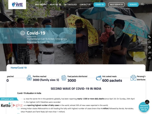 COVID Relief NGO in West Bengal