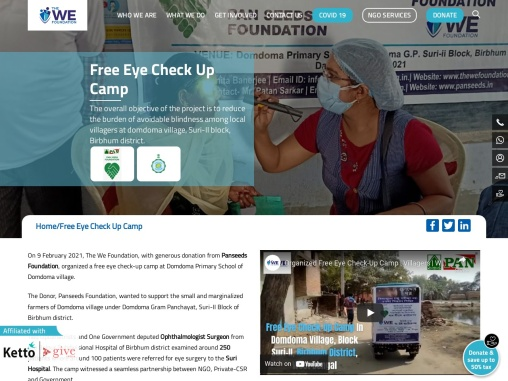 The We Foundation organized Free Eye Check Up Camp for local villagers