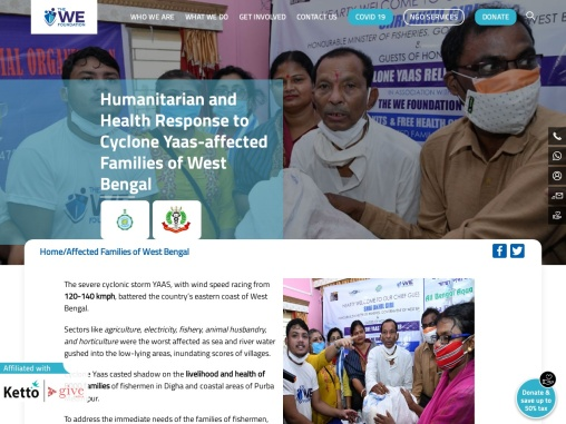 Humanitarian and Health Response to Cyclone Yaas-affected Families of West Bengal