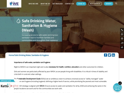 The We Foundation-Sanitation & Hygiene in Kolkata