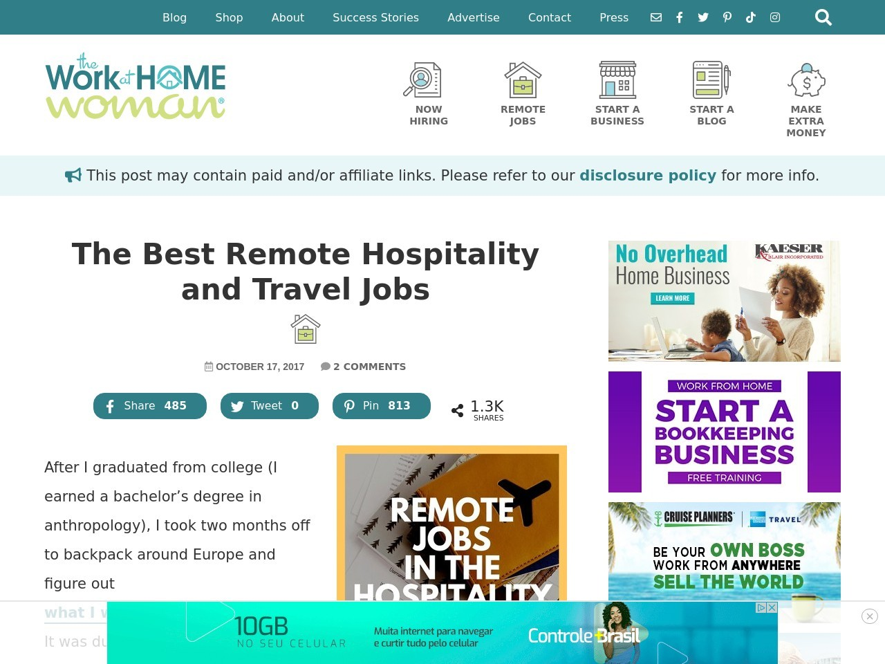 Remote Jobs in the Hospitality, Travel, and Tourism Industries