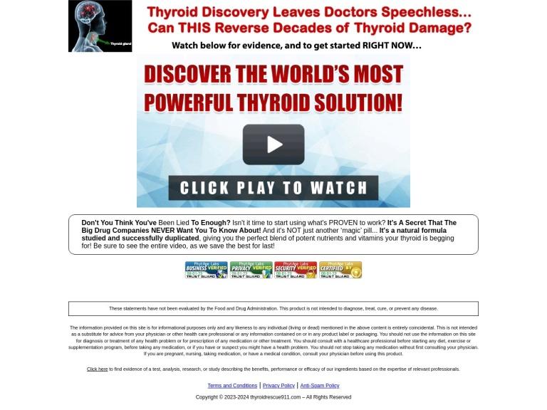 Thyroid Rescue 911 screenshot