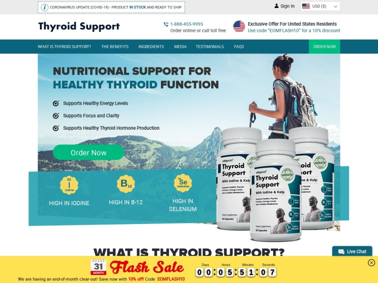 Thyroid Support screenshot
