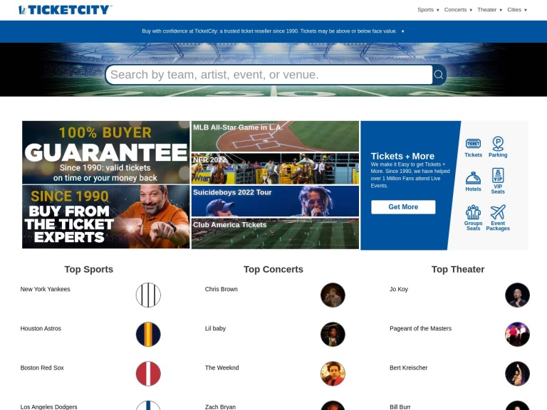 Ticket City screenshot