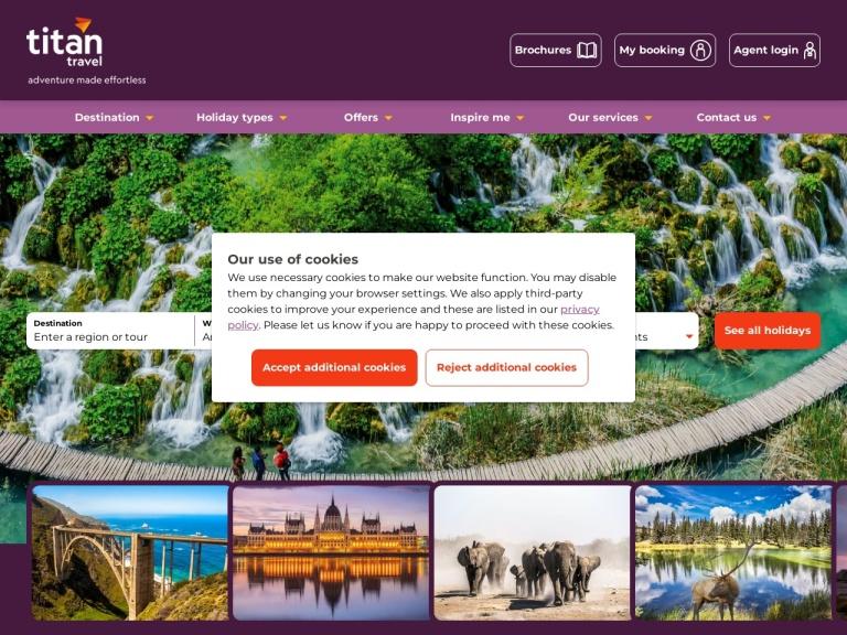Titan Travel UK Voucher Codes & Referral Link screenshot