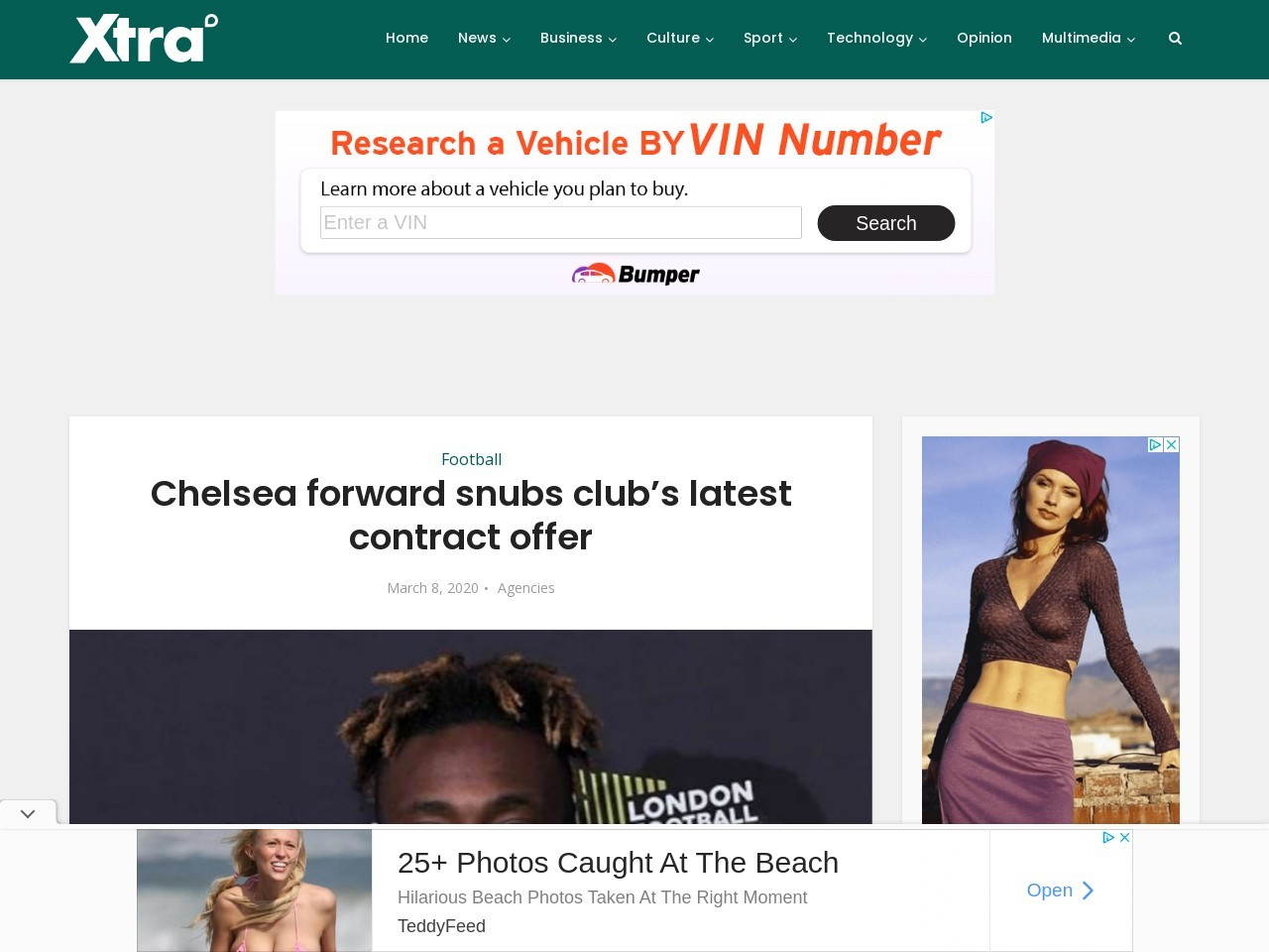 Chelsea forward snubs club's latest contract offer
