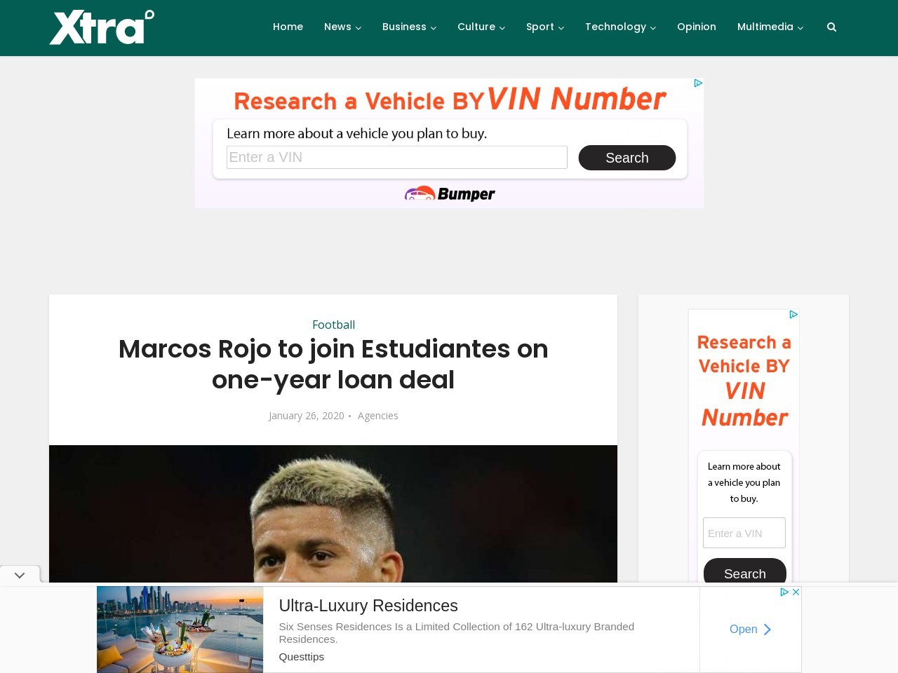 Marcos Rojo to join Estudiantes on one-year loan deal