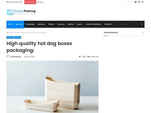 Boxesme Provides High quality hot dog boxes packaging