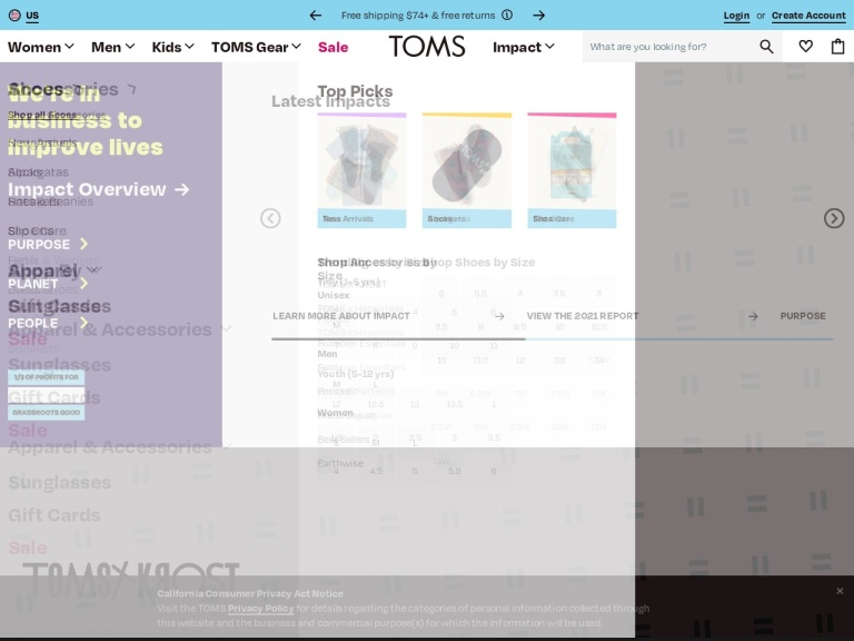 TOMS screenshot