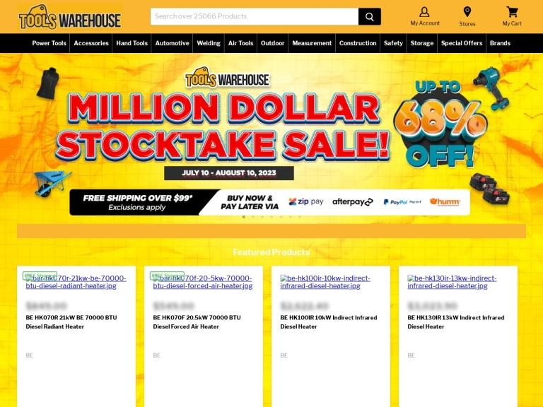 Tools Warehouse screenshot