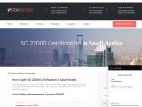 ISO 22000 Certification in Saudi Arabia