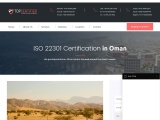 ISO 22301 certification consultancy in Oman-Topcertifier