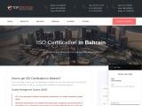 ISO Certification in Bahrain | TOPCertifier