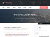 ISO, CE Mark, VAPT & HACCP Certification Company in Kenya | TopCertifier