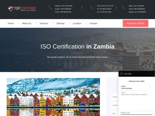 ISO, CE Mark, VAPT & HACCP Certification Company in Zambia | TopCertifier