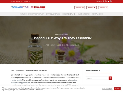 Essential Oils: Why Are They Essential?