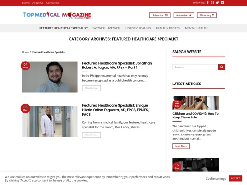 Healthcare Specialist in the Philippines | Top Medical Magazine