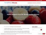Healthy Recipe for Summer: Banana-Berries Acai Bowl